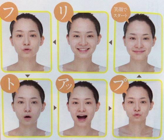 顔のたるみを引き締める フェースエクササイズ
