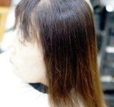 ボリュームのない髪