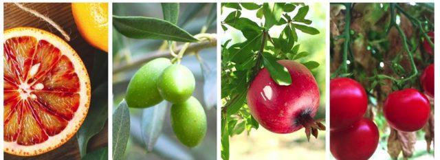 地中海ポリフェノールを含むフルーツ