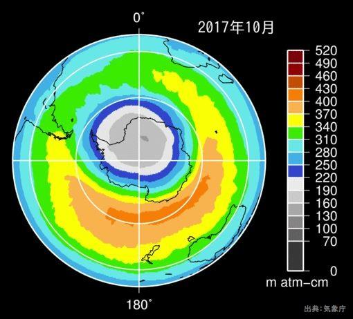2017年のオゾン層