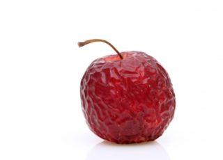 しわしわのリンゴ