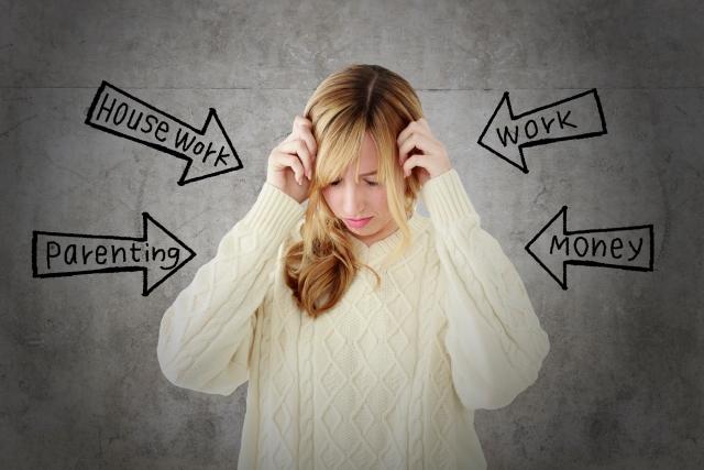 強いストレスがある女性