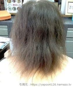 パサパサした髪